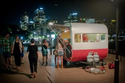 Sarazine à l'opéra de Sydney, en Australie